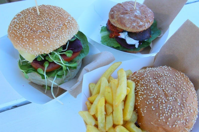 Burgers from Top Shop, Byron Bay, Australia