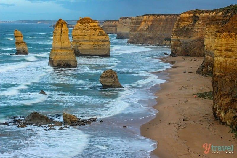 Twelve apostles along the Great Ocean Road in Australia #