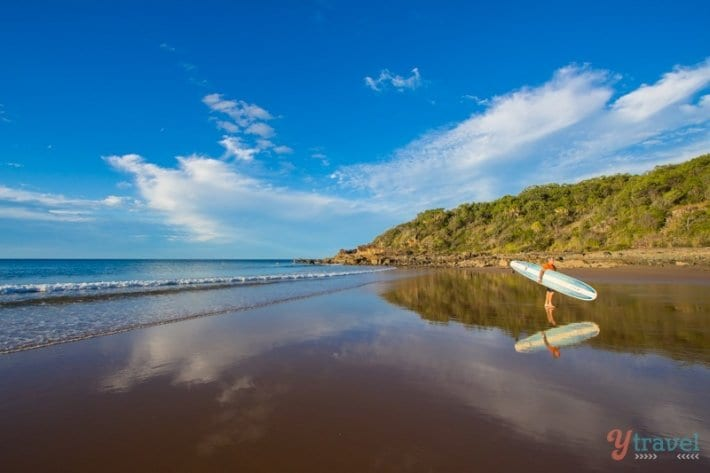 Surfer at Agnes Water, Queensland, Australia