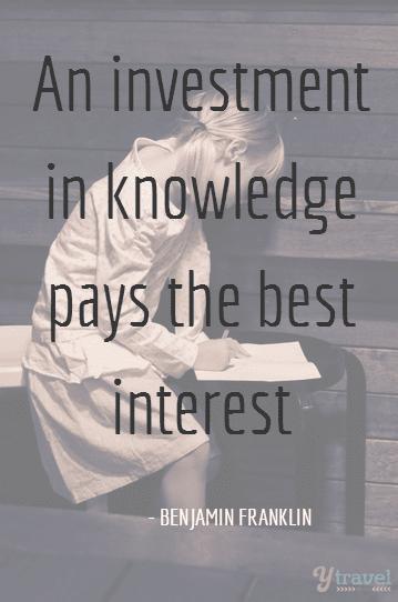 Benjamin Franklin quote knowledge