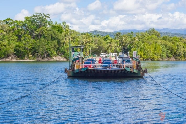 crossing the Daintree River