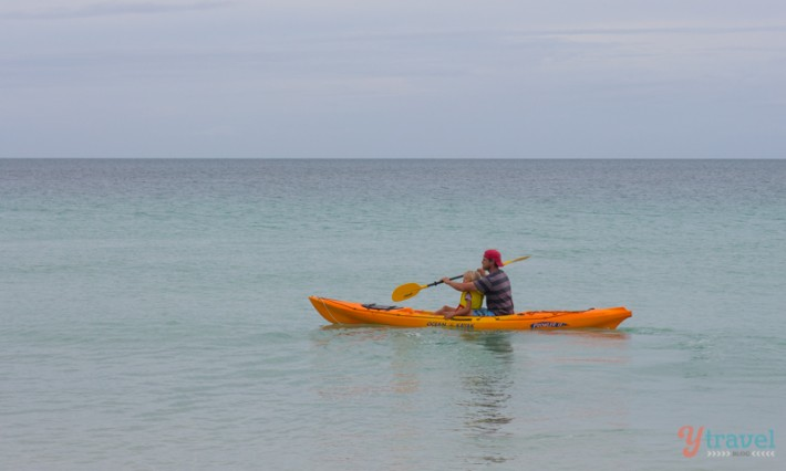 Kayaking off Fraser Island - Hervey Bay, Queensland, Australia