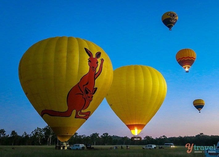 Hot air ballooning over the Atherton Tablelands, Queensland, Australia