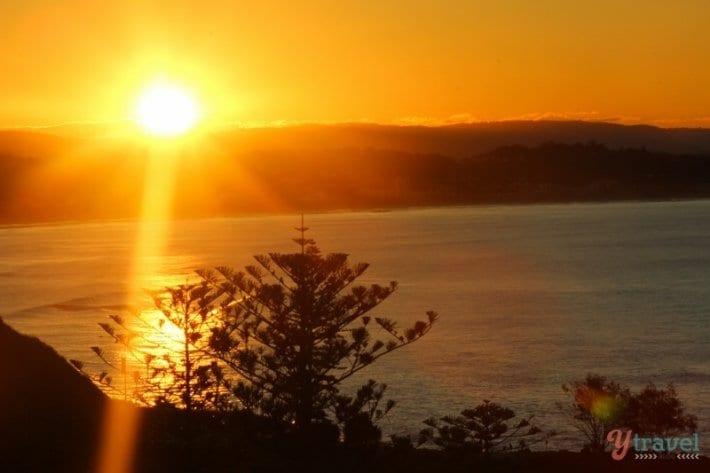 Sunset over Coolangatta Beach viewed from Mantra Coolangatta Beach - Queensland, Australia