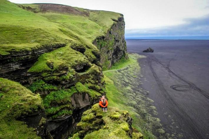 Liz Carlson in Iceland
