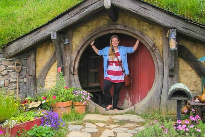 Liz Carlson at the Hobbiton Movie Set - New Zealand