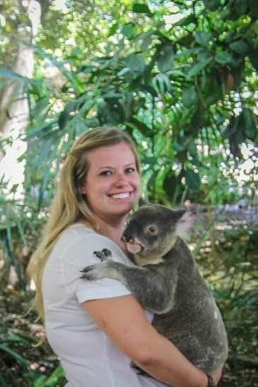 Cuddling a Koala in Australia