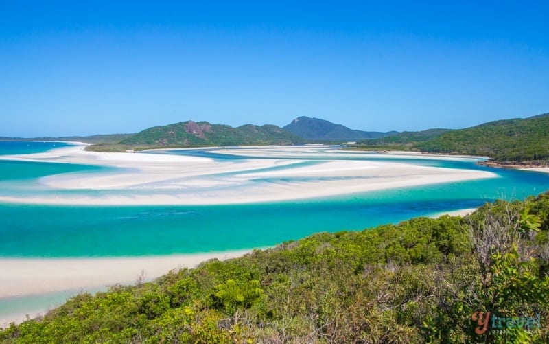 Entrée de la colline - Whitehaven Beach, Queensland, Australie