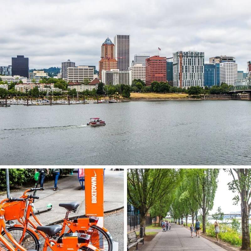 Marcher ou faire du vélo sur la rivière Willamette