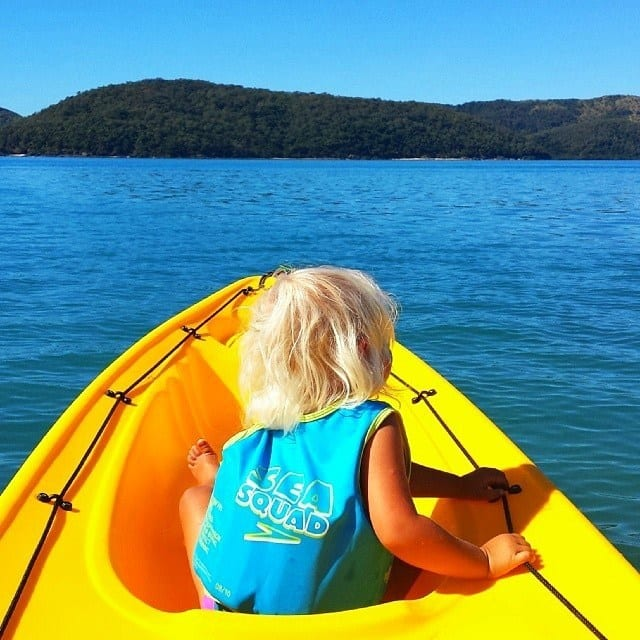 Kayaking at Daydream Island in Queensland