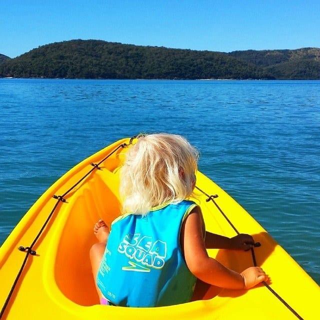 Kayaking at Daydream Island in Queensland