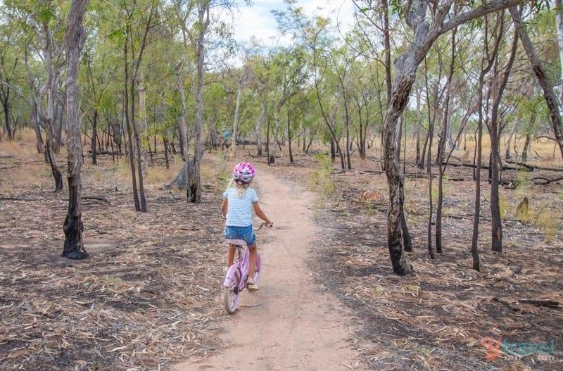 Biking at Undara Lava Tubes - Queensland, Australia
