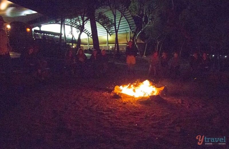 Campfire at Undara Lava Tubes - Queensland, Australia