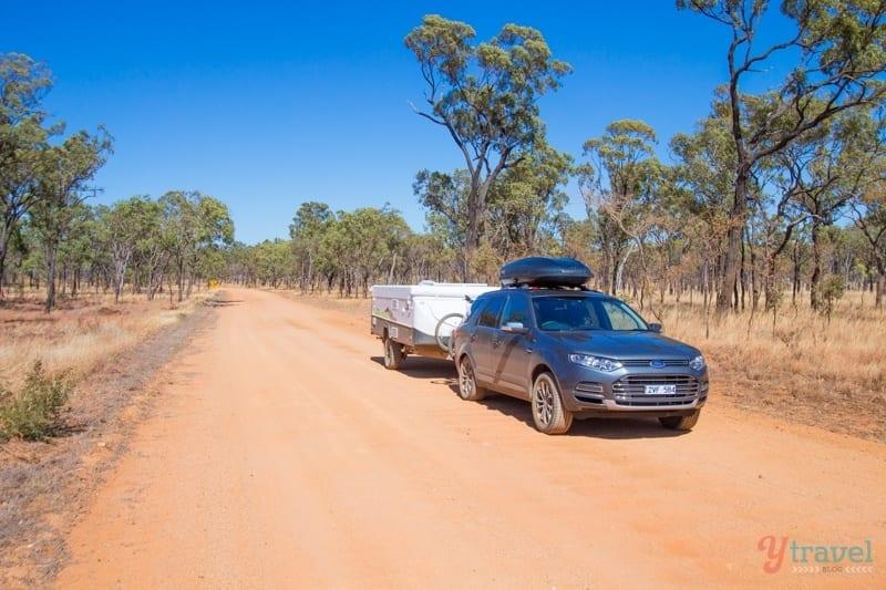 The drive to Kalkani Crater at Undara Lava Tubes - Queensland, Australia