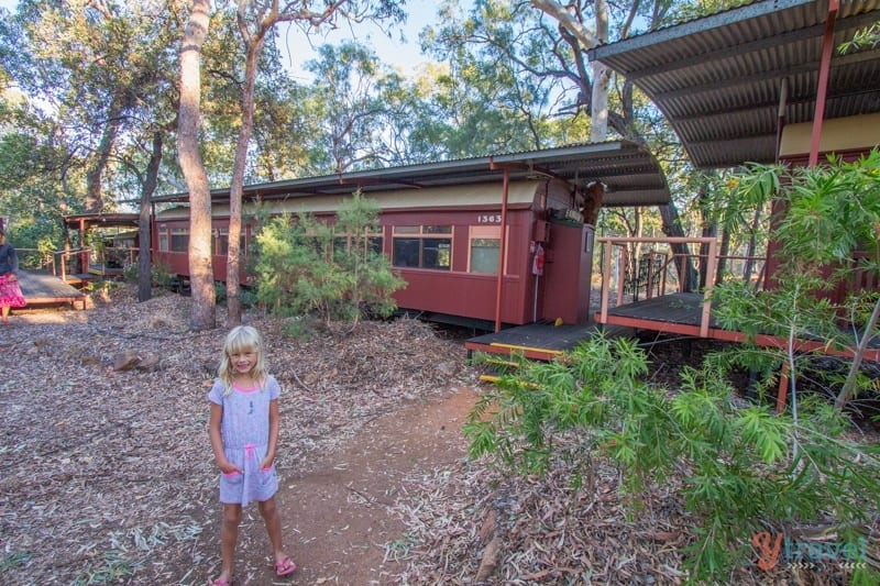 Sleep in a train at Undara Lava Tubes - Queensland, Australia
