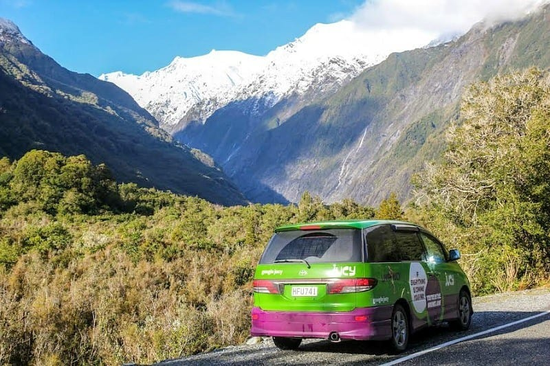 On my road trip in New Zealand in my Juicy camper