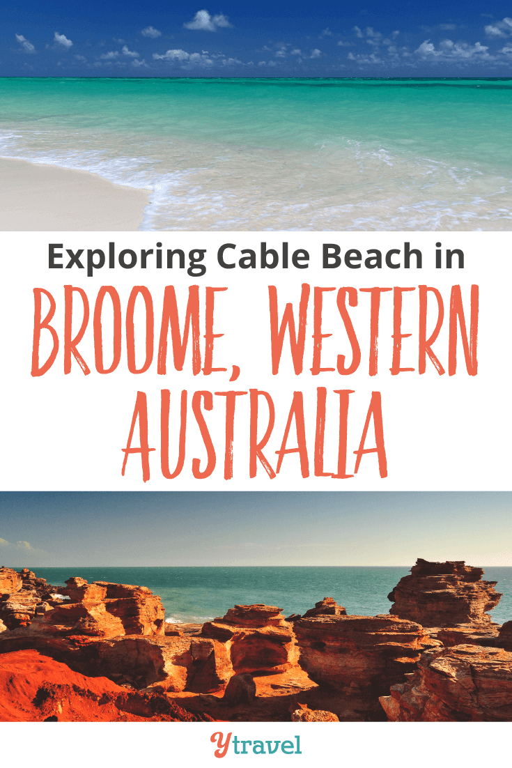 Exploring Cable Beach in Broome, Western Australia.