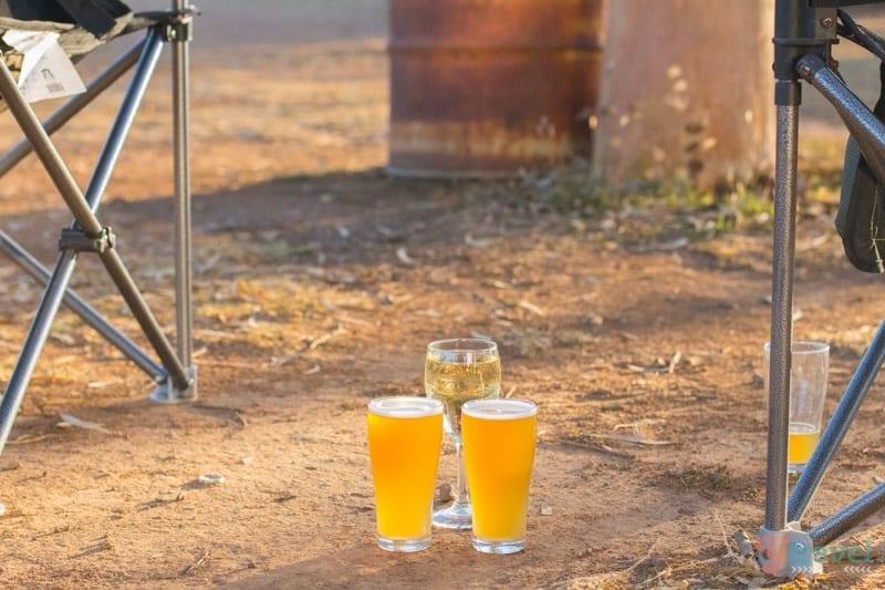 Beers around the campsite
