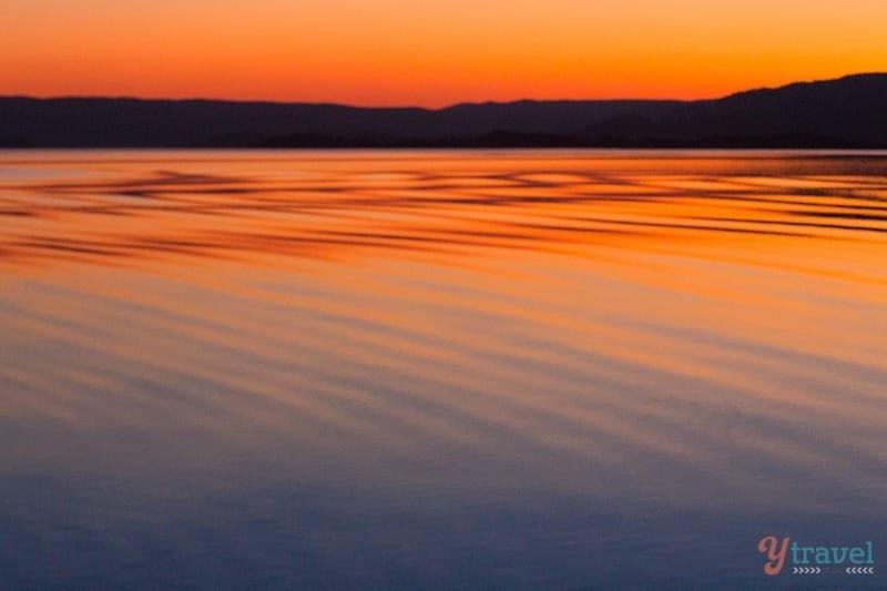 Sunset on Lake Argyle - Western Australia
