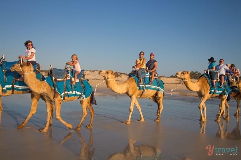 Cable Beach,Sunset camel ride on Cable Beach in Broome - Western Australia