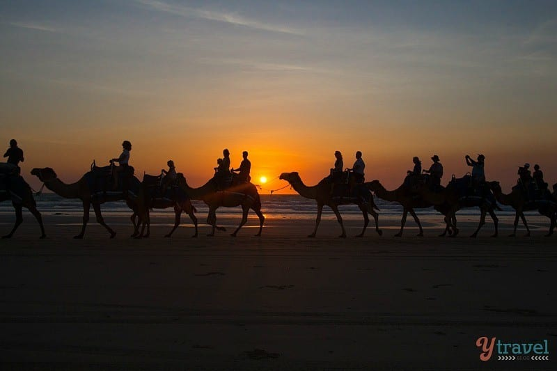 Susnet camel ride, Cable Beach, Broome - Western Australia