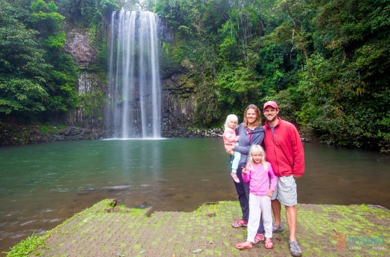Last pic at Millaa Milla Falls before the down poor