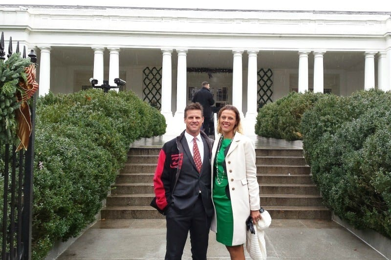 at The White House