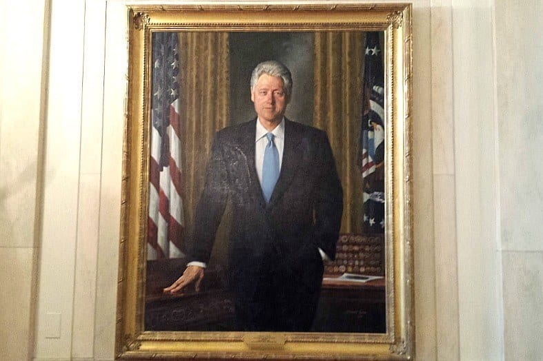Bill Clinton portrait - The White House East Wing