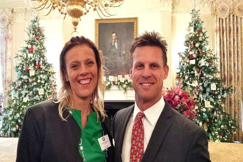 Abraham Lincoln photo bomb inside the White House :)