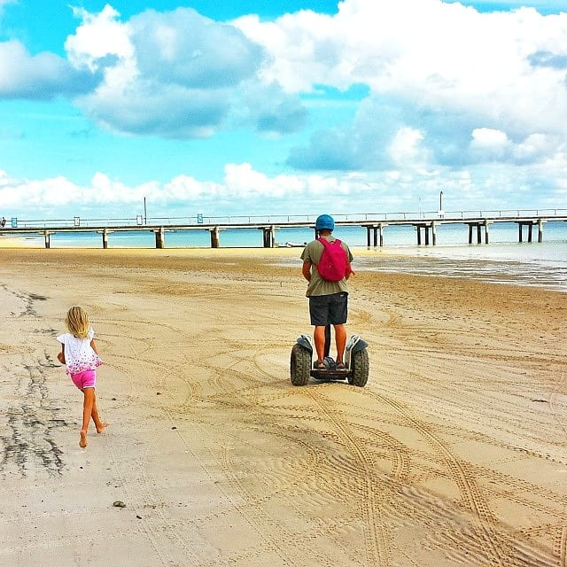 Segway fun at Kingfisher Bay Resort - Fraser Island, Queensland, Australia