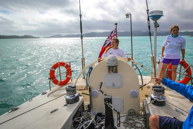 Sailing in The Whitsundays, Queensland, Australia