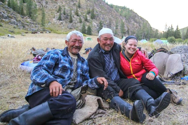 Meeting the locals in Mongolia