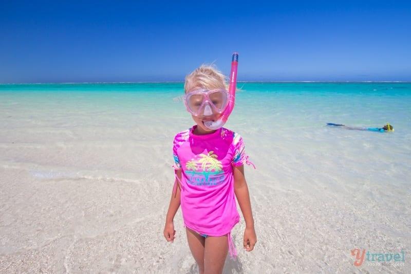 Snorkeling at Turqoise Bay, Western Australia