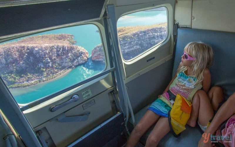 Flying over the Horizontal Falls, Western Australia