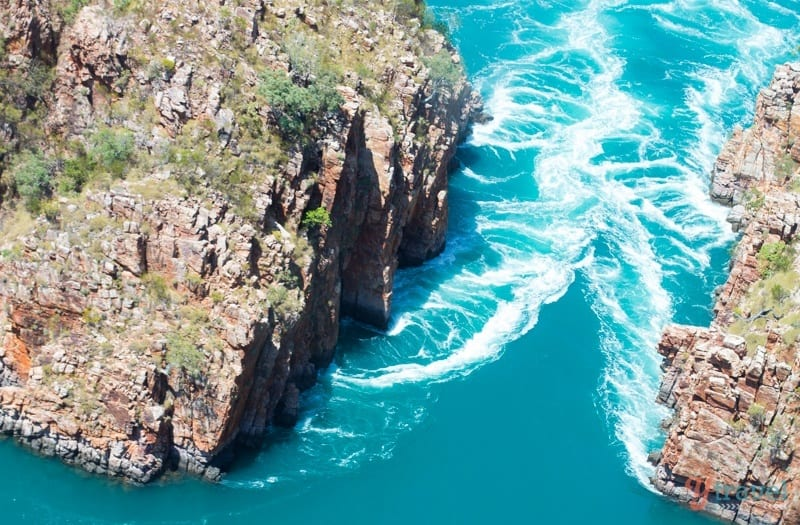 Horizontal Falls view from above, The Kimberley