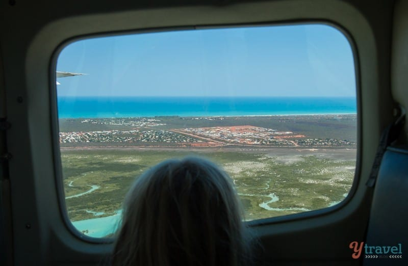 Flying over Broome, Western Australia