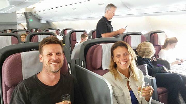 Qantas Business Class flight to the USA