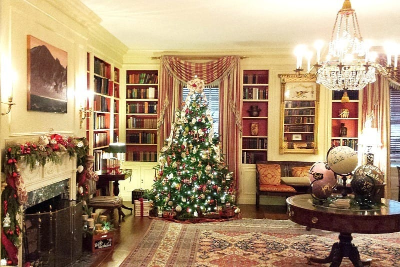 The Library Room inside the East Wing of The White House