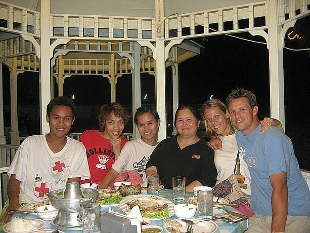 Dinner and conversation with our Thai friends in Bangkok