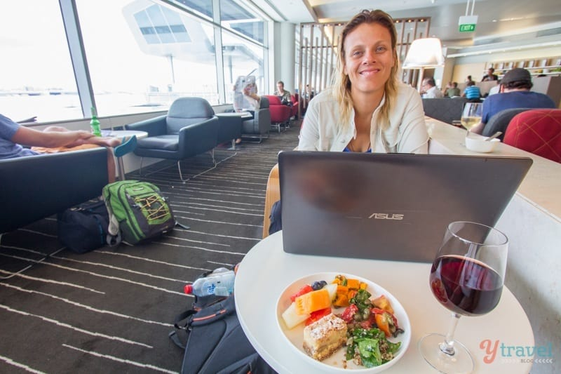 Qantas Business Class Lounge in Sydney Airport