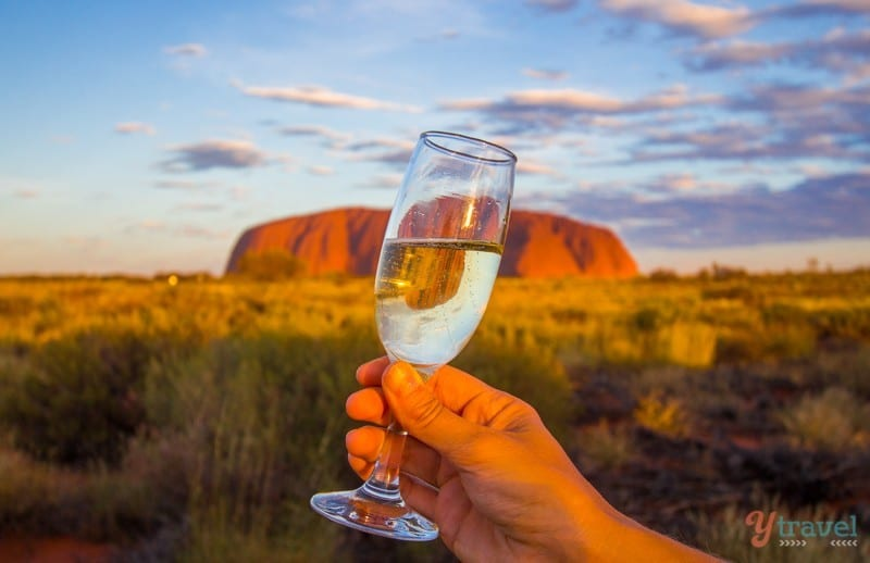 Sunset drinks at Uluru - Northern Territory, Australia