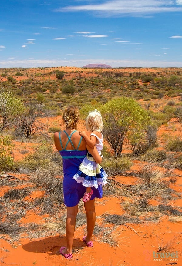 First glimpse of Uluru in the Red Centre of Australia