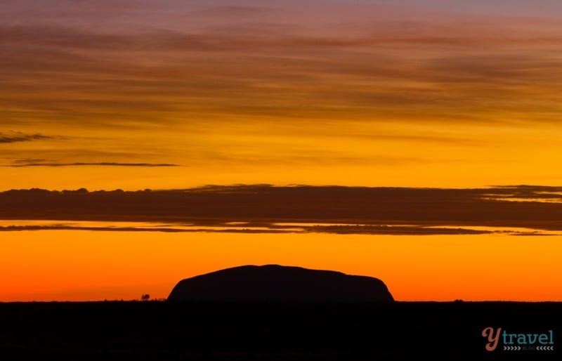 Sunrise at Uluru in the Northern Territory of Australia