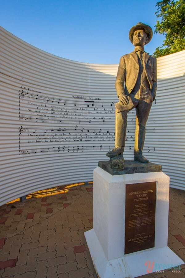 Banjo Patterson at the Matilda Centre, Winton, Outback Queensland