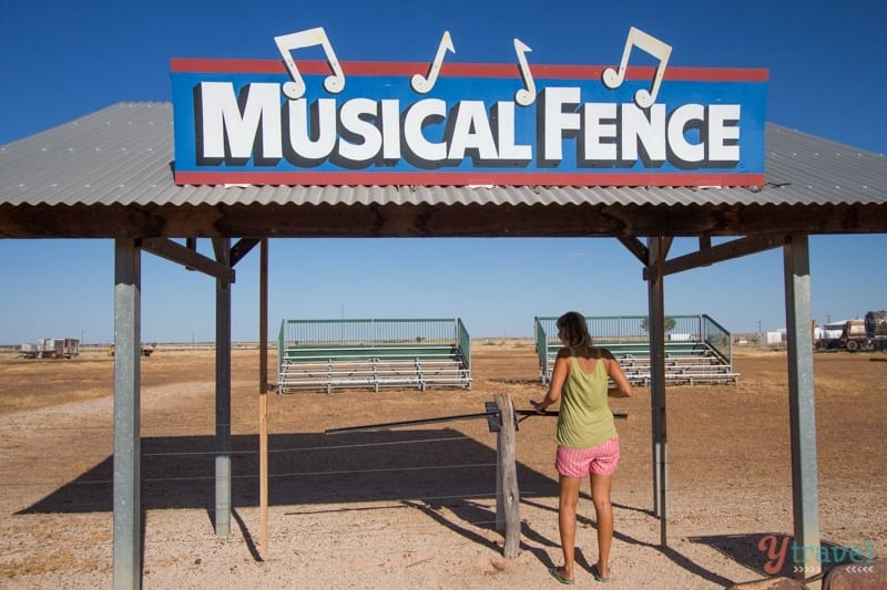 Musical Fence, Winton, Outback Queensland