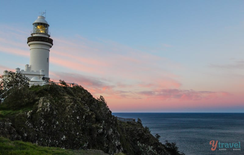 Sunset at Byron Bay Lighthouse, NSW, Australia