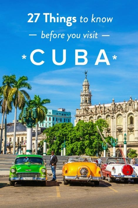 Planning on visiting Cuba? It's a hot travel destinatiion and we've got some Cuba Travel Tips for you. Here are 27 things you need to know before your visit