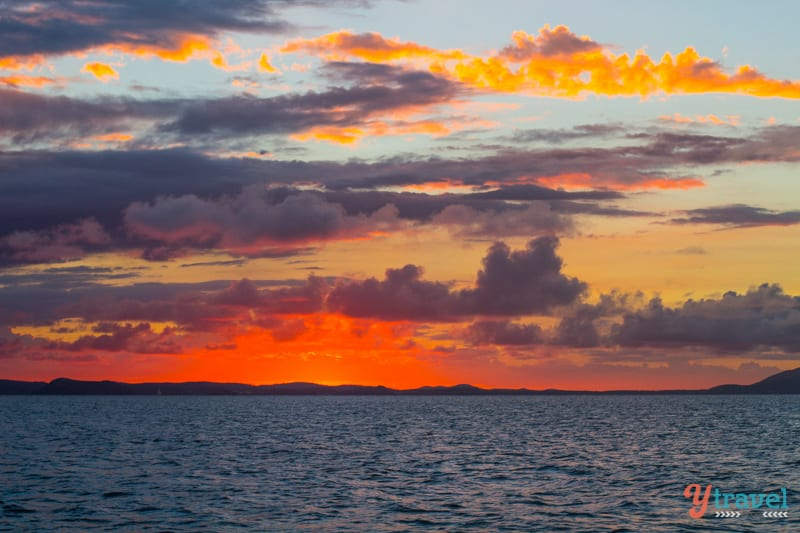 Sunset on Great Keppel Island, Queensland, Australia