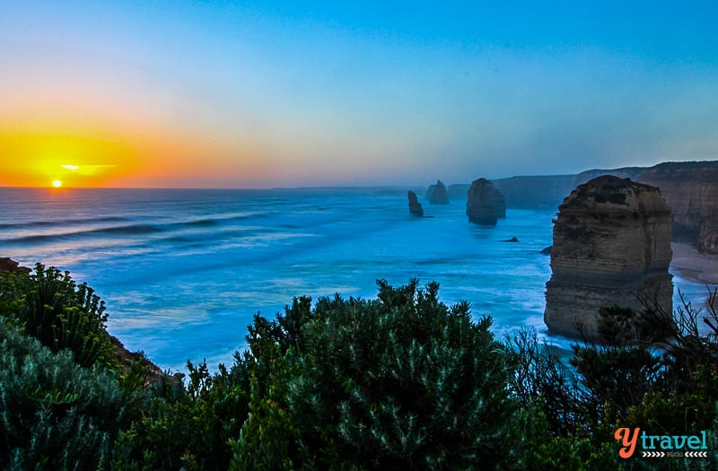 Sunset on the Great Ocean Road, Victoria, Australia