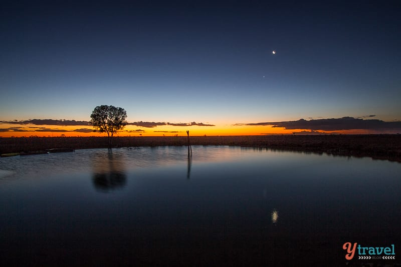 Sunset at Camden Park Cattle Station, Longreach, Queensland